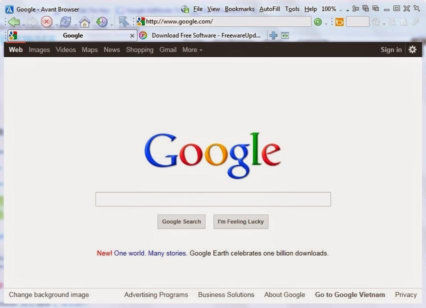 Интерфейс Avant Browser