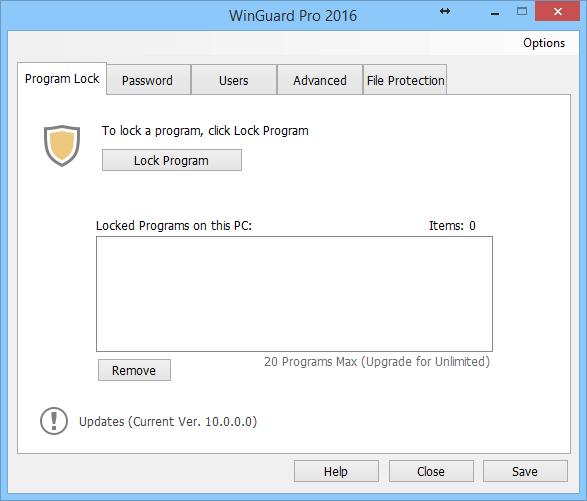 Интерфейс WinGuard Pro 2016