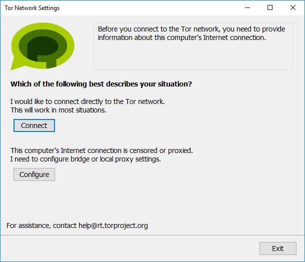 Интерфейс Tor Messenger