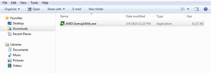 Интерфейс AMD Clean Uninstall Utility