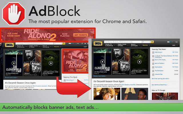 Интерфейс AdBlock Plus для Google Chrome