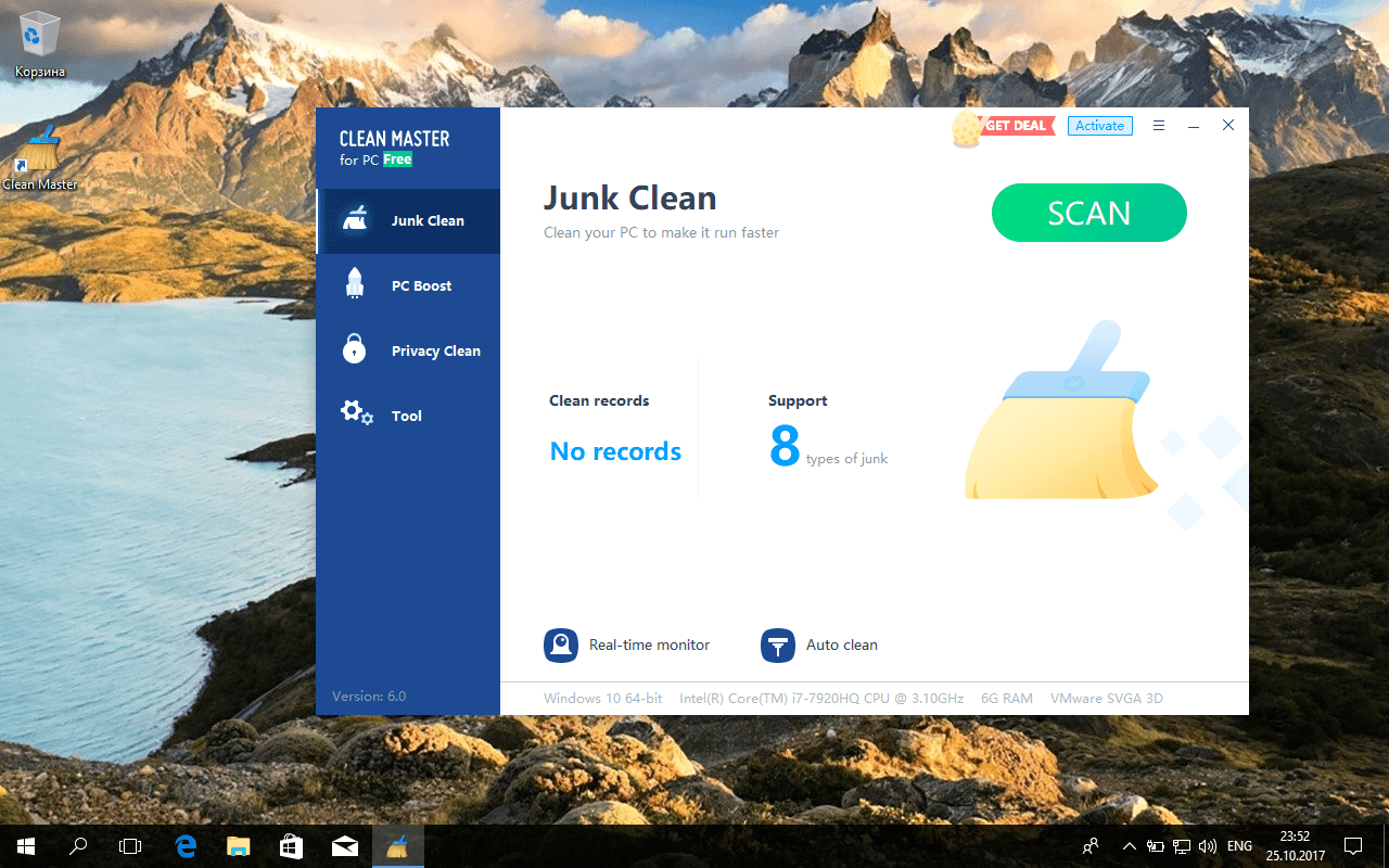Интерфейс Clean Master
