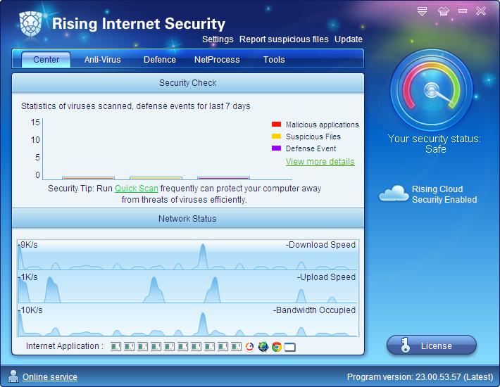 Интерфейс Rising Internet Security Personal