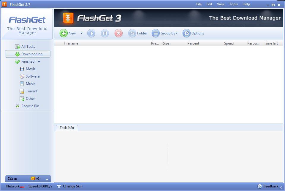 Интерфейс FlashGet