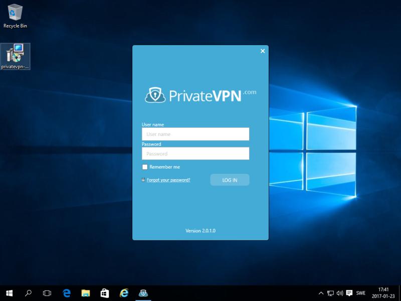 Интерфейс PrivateVPN